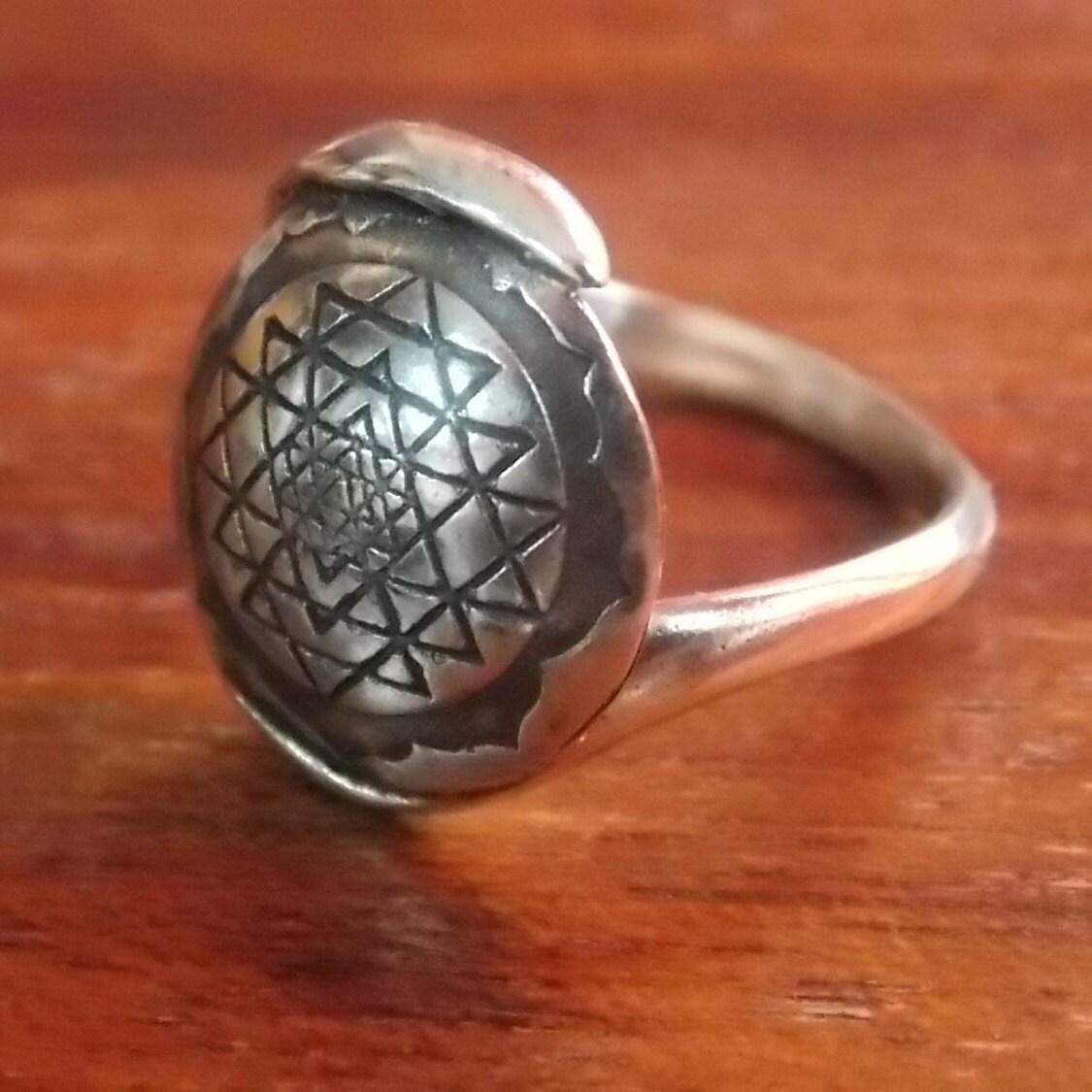 sri yantra ring sri yantra silver ring 925coin ring sri