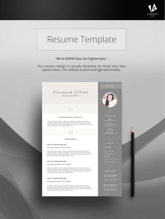 impressive resume templates resume instant download by chedon