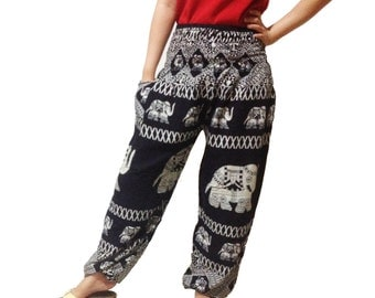 Elephant Strips Comfy Yoga Pants Wide Leg Pants  (YG01-15)