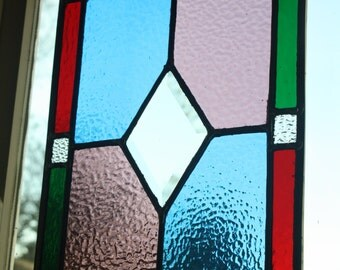 Stained glass window panel handmade by kingfisher stained glass