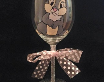 Hand Painted Thumper Glass