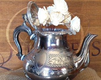Victorian 1800's Henry Hobson Silver Teapot