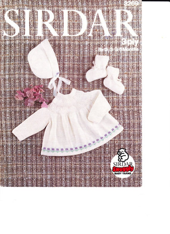 Knitting Pattern Angel Top : Vintage Knitting Pattern pdf. Angel Top / Bonnet / Booties