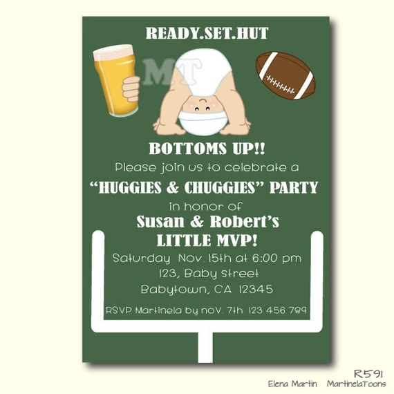 huggies and chuggies baby shower invitation dad diaper party, Party invitations
