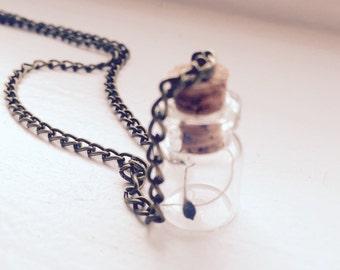 Clematis Antique Wish Necklace Glass Jar