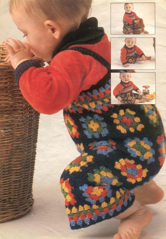 Vintage Crochet Pattern Granny Square by VintagePatternPDF ...