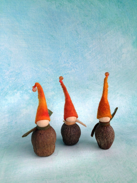 Gnomes felt. Nature table gift, Waldorf gift