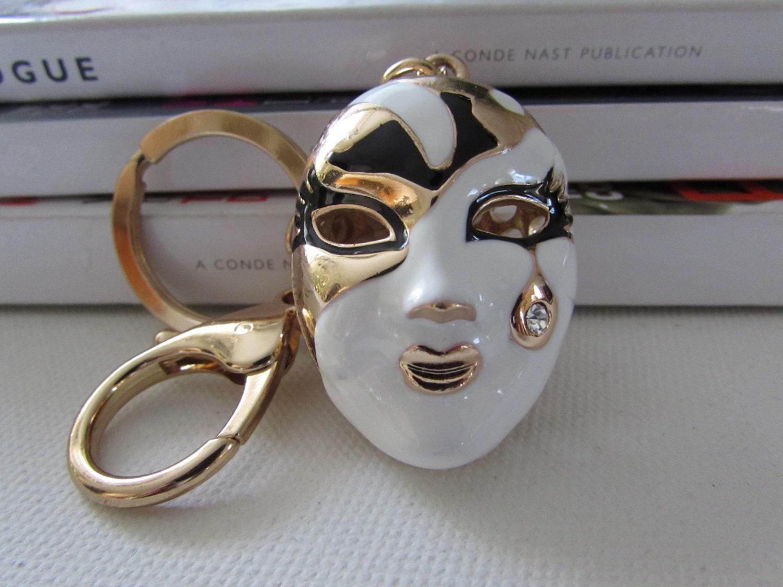 venetian mask key ring unique key ring bag charm by izproject