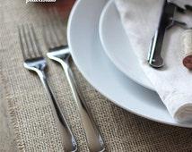 24 Burlap placemats - Wedding placemats