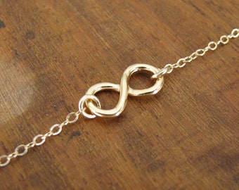Gold bracelet, gold filled, infinity bracelet, jewelry, gold filled 14k, gold infinity bracelet, chain bracelet, eternity bracelet