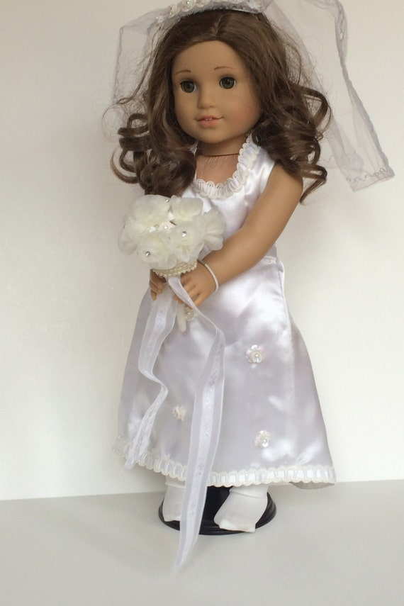 Items similar to american girl wedding dress on etsy for American girl wedding dress