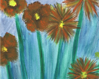 Orange Flowers - Original Painting