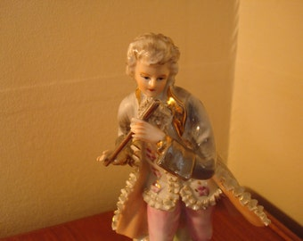 Fancy Lad with Flute (Vintage Colonial Wales) Figurine