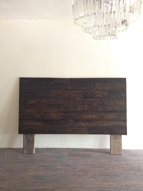 reclaimed recycled wood dark espresso headboard head by kasecustom. Black Bedroom Furniture Sets. Home Design Ideas