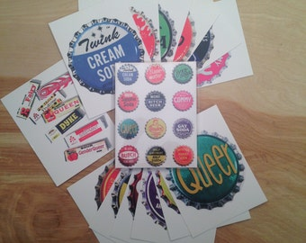 "Queer Postcards Set of 14 Postcards Featuring My Original Print ""Queer Pop"""