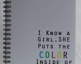 I Know A Girl Journal, Inspirational Journal, Kids Journal