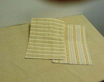 Yellow Placemats Blue/Yellow Stripe Reversible