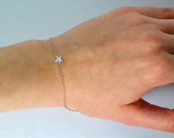 Silver star bracelet, Tiny star bracelet, Star bracelet, Star bracelet silver, Star jewelry, Little star bracelet, Small star bracelet, Star