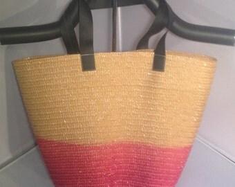 Medium Ombre Tote Bag Pink