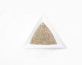 """Platinum Blond Gold Loose Ultra Fine Glitter, .008"""" Hex"""