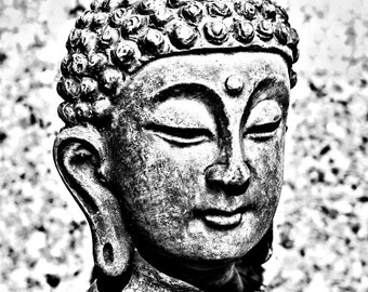 Black and White Buddha, Photo Art Download, Buddha Figure,Buddha Digital Download,Buddha Instant Download,Printable Buddha Art