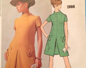 Vogue Americana 1908 One-Piece Dress Oscar de La Renta Size 12 Unused