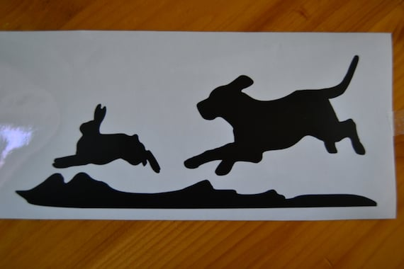 outdoor rabbit hunting decal