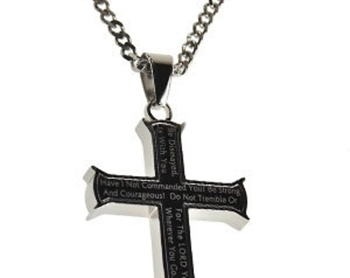 """Iron Cross Black """"Strong And Courageous"""""""