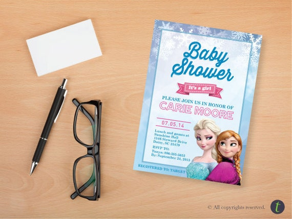 frozen baby shower invitation by tonikamorton on etsy