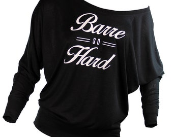 barre. barre shirt. barre so hard. plus size workout clothes. missFITTE. barre clothing.  barre tops. womens tops t-shirts. fitness clothing