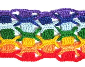 Rainbow Scarf Crochet Pattern, Crochet scarf, Crochet pattern