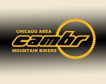 Cambr-chicago area mountain bikers logo-vinyl decal