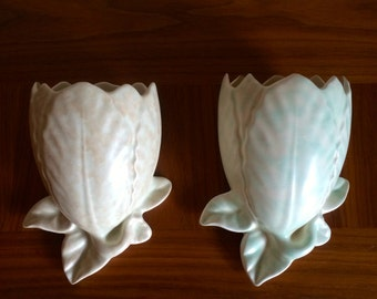Vintage pair of china sconces.