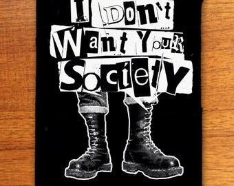 Anti Society punk patch, punk patches,