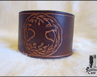 Leather Bracelet Craft pattern tree of life / leather / tree of life / handmade / custom