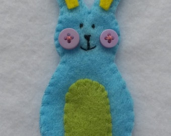 Button Bunny Finger Puppet