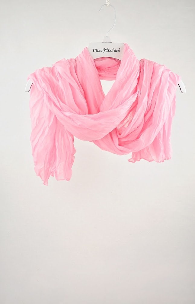 Find and save ideas about Chiffon scarf on Pinterest.   See more ideas about Pink wallpaper christmas, Blue peonies and Painted silk scarves. Hand Painted Silk Scarf, Long Chiffon Scarf Silk, White Scarf, Pink and Brown Tulip Scarf, Silk Scarves Takuyo, Made to order.