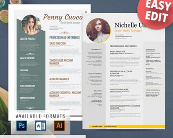 creative resume templates free word edit resume template cover by ...