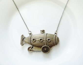 Submarine Necklace Steampunk Submarine Jewelry Sherlock Holmes Gift Steampunk Sherlock Holmes Necklace Sherlocked Jewelry Submarine Gift