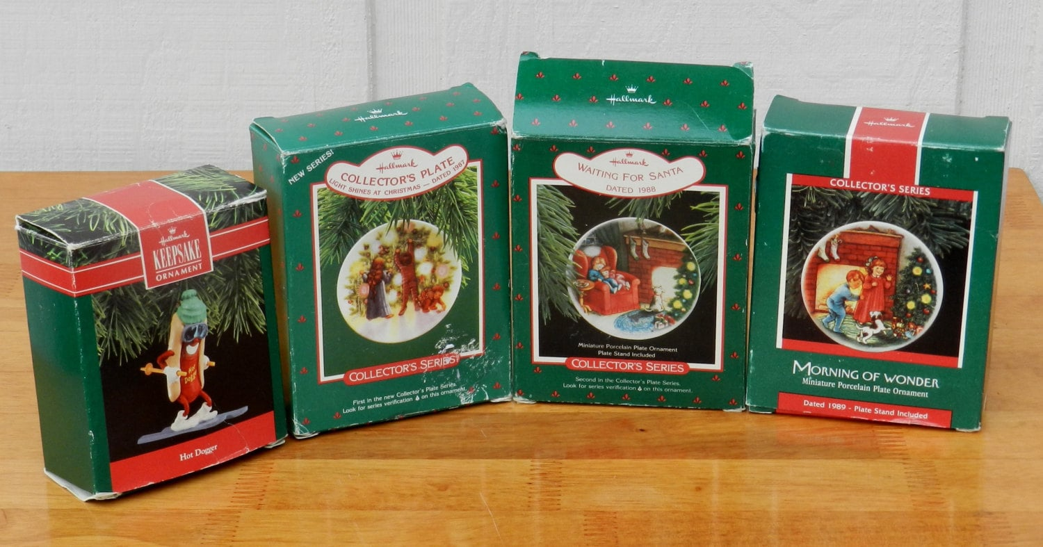 1987 Hallmark Christmas Ornaments