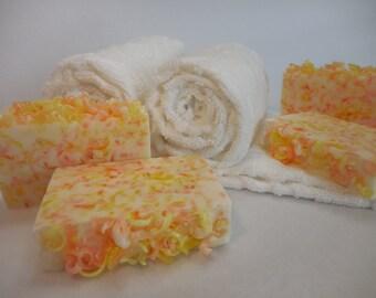 Energy Soap - Lemon Lime Soap - Orange Soap - Citrus Soap - Confetti Soap - Goat Milk Soap - Mothers Day Gift Soap - Citrus Goat Milk Soap