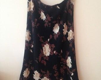 Floral Mid Length Skirt