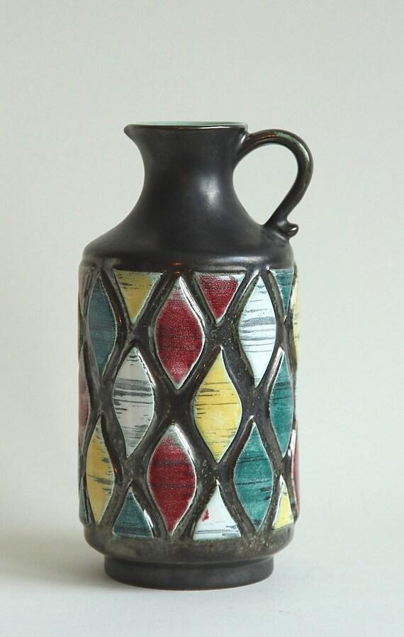uebelacker ue keramik german vintage ceramic vase with. Black Bedroom Furniture Sets. Home Design Ideas