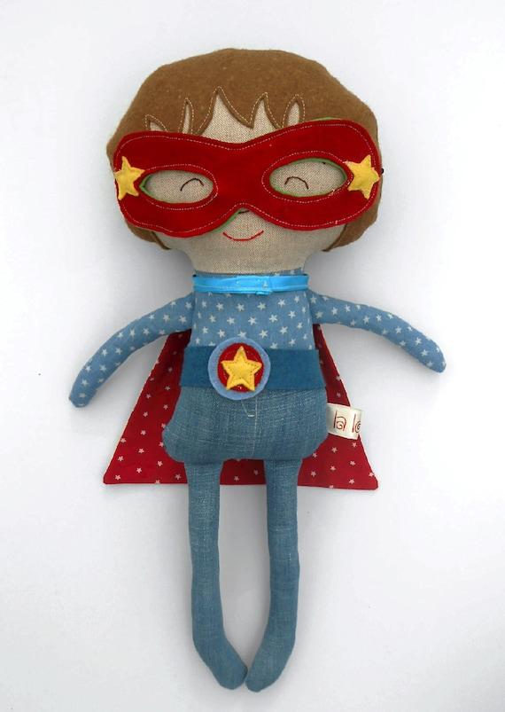 Super Hero Toys For Boys : Superheroe doll fabric for boys cloth dolls by