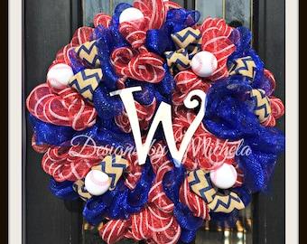 Washington Nationals Baseball Wreath, BR065