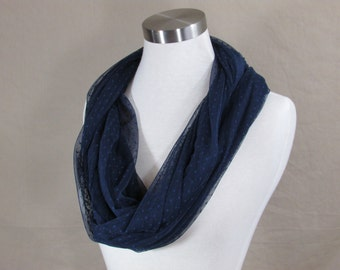 Infinity Scarf in Blue Handmade Lightweight Scarf Spring Scarf Summer Scarves