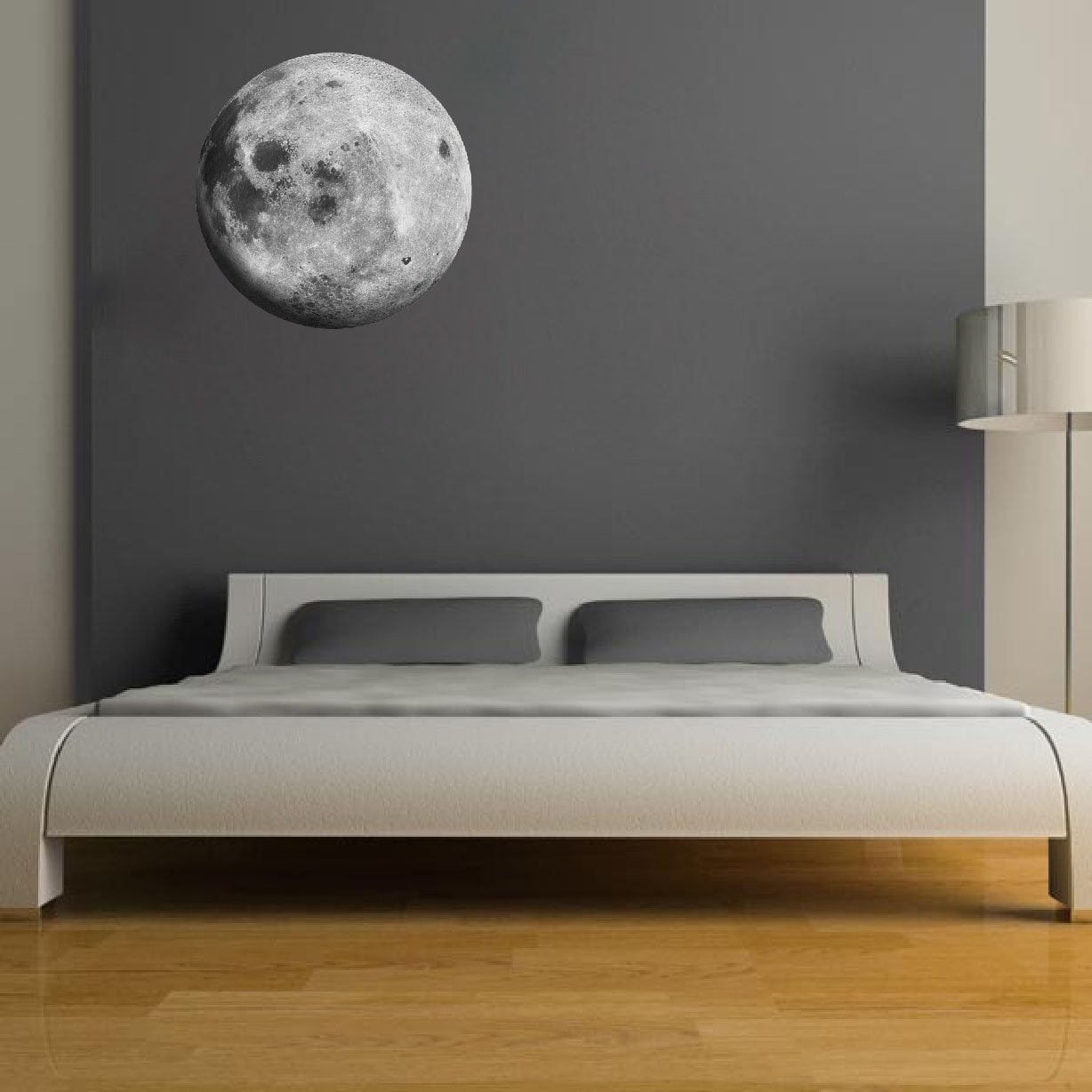 moon wall decal sricker peel and stick moon wall art by. Black Bedroom Furniture Sets. Home Design Ideas