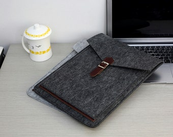 Felt Laptop Sleeve 15.6 , 15 inch Laptop Case , Laptop Case 15.6 , 15.6 Laptop Sleeve , 15.6 inch Laptop Bag #205