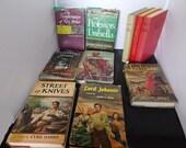Vintage Books Lot of 10 Novels Copyright 1947 - 1967 Old Hardcover