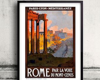 Rome, vintage travel poster Digital Wall art Illustration Print Decorative - SKU 0032